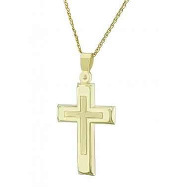 Χρυσός Σταυρός για Αγόρι 14 Καρατίων