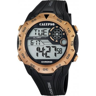 Ρολόι CALYPSO Digital Black Rubber Strap 5665-3