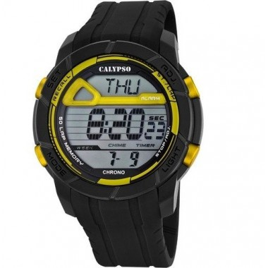 Ρολόι CALYPSO Digital Black Rubber Strap 5697-5
