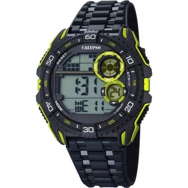 Ρολόι CALYPSO Digital Black Rubber Strap 5670-7