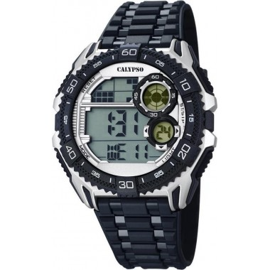 Ρολόι CALYPSO Digital Black Rubber Strap 5670-1
