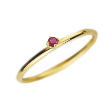Δαχτυλίδι 14Κ Χρυσό με Ρουμπίνι
