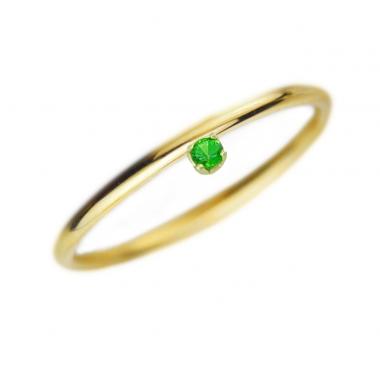 Δαχτυλίδι 14Κ Χρυσό με Σμαράγδι
