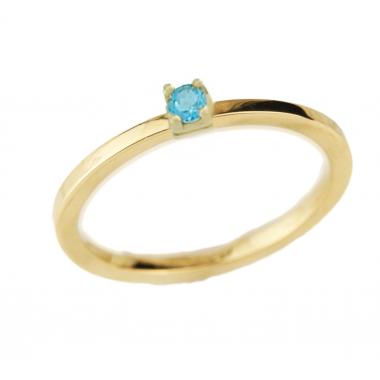Δαχτυλίδι 14Κ Χρυσό με Ακουαμαρίνα