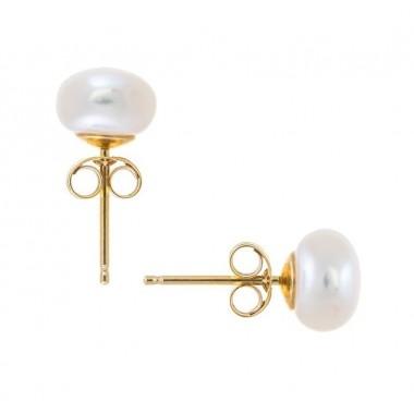 Σκουλαρίκι μαργαριταρι 6,00-6,50 mm χρυσο Κ14