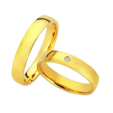 Βέρες Γάμου 9 Καρατίων μεμονωμένο τεμάχιο Bonise