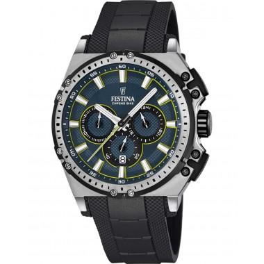 FESTINA Chronograph Black Stainless Steel Bracelet F16970/3