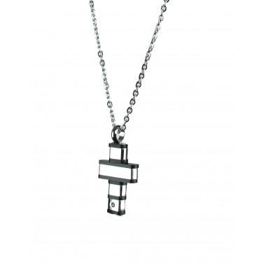 ανδρικός σταυρος από ανοξείδωτο ατσάλι