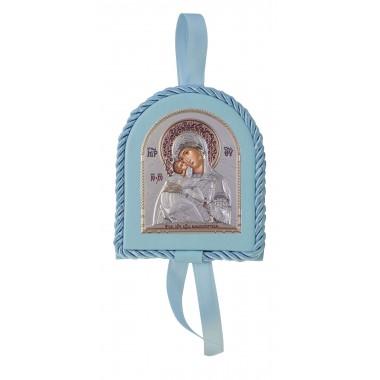 Μπλε εικονάκι κούνιας Παναγία