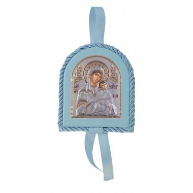 Μπλε εικονάκι κούνιας Παναγία Γιάτρισσα