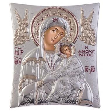 Παναγία Αμόλυντος 00102 Ασημένια εικόνα
