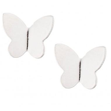 Ασημενια Σκουλαρίκια πεταλουδα 925