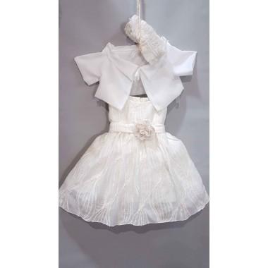 MT-223 MAKIS TSELIOS-Βαπτιστικό Ρούχο Για Κοριτσακι