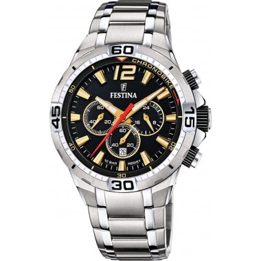 FESTINA Silver Stainless Steel Chronograph F20522/5