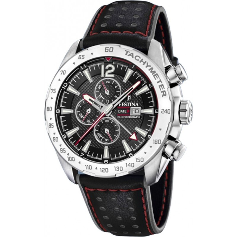 FESTINA Black Leather Chronograph F20440/4