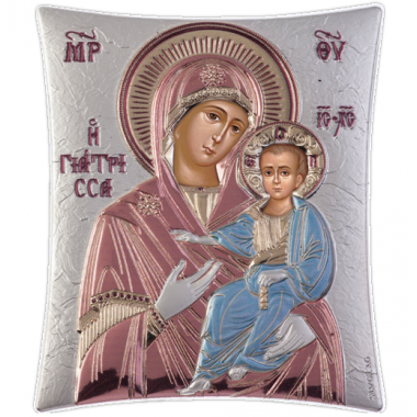 Παναγία Γιάτρισσα 00101 Ασημένια εικόνα