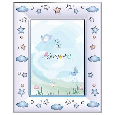 Παιδική κορνίζα συννεφάκια αστεράκια