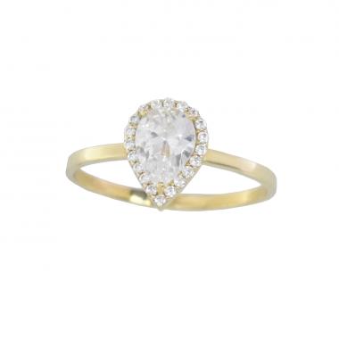 Δαχτυλίδι από χρυσό 14 καρατίων