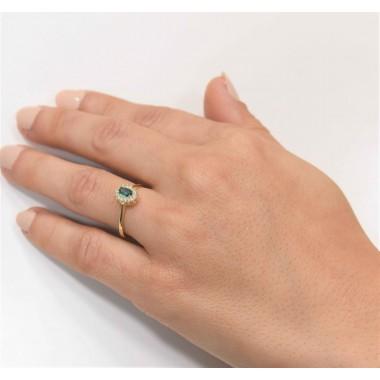 Δαχτυλίδι με ζιργον 9Κ χρυσο