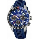 FESTINA Chronograph Blue Rubber Strap F20517/1