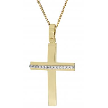 Χρυσός γυναικείος σταυρός 14 Καρατίων