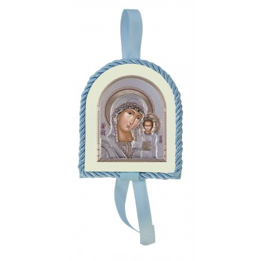 Μπλε εικονάκι κούνιας Παναγία Καζάνσκα