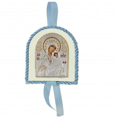 Μπλε εικονάκι κούνιας Παναγία Αμόλυντος