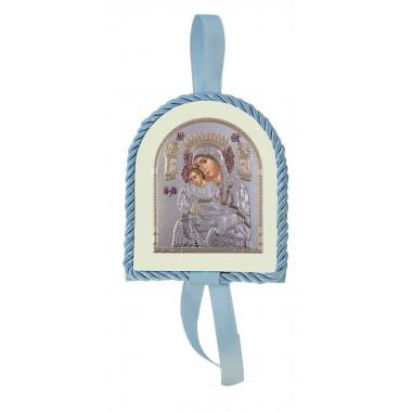 Μπλε εικονάκι κούνιας Παναγία Άξιον Εστί