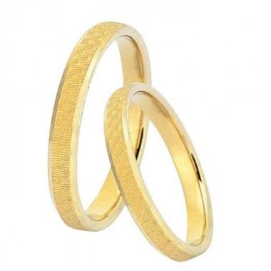 Βέρες Γάμου 9 Καρατίων μεμονωμένο τεμάχιο Deka Gold