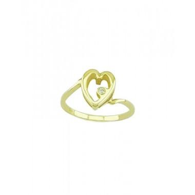 Δαχτυλίδι 14Κ Χρυσό με Ζιρκόν