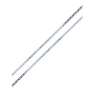 Αλυσίδα θήτα από λευκόχρυσο 14 καρατίων